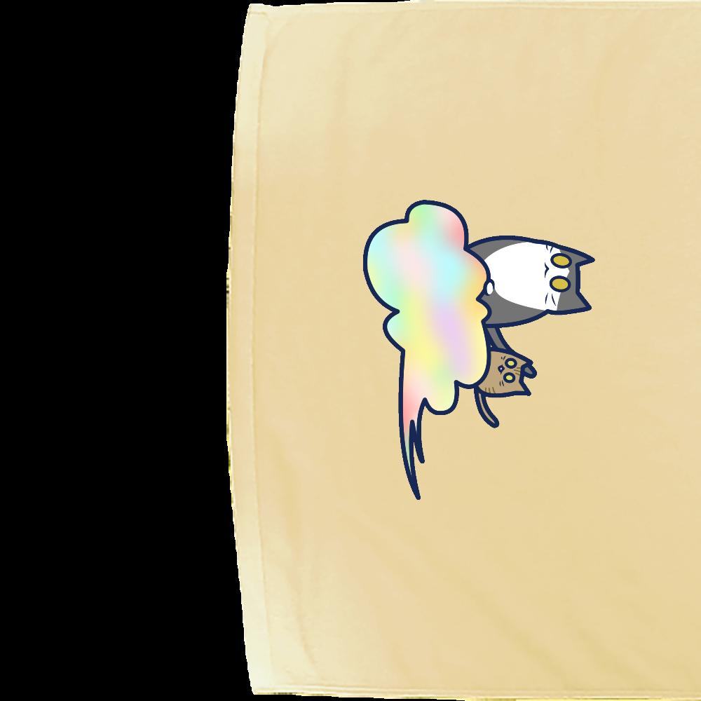 五色の雲と二匹の猫 シャーリングバスタオル シャーリングバスタオル