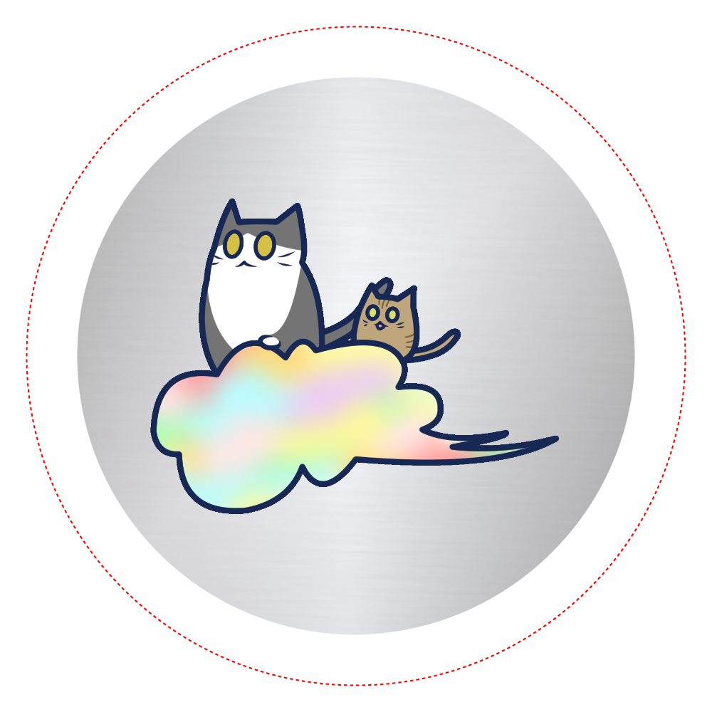 五色の雲と二匹の猫 オリジナル缶バッジ(44mm) オリジナル缶バッジ(44mm)