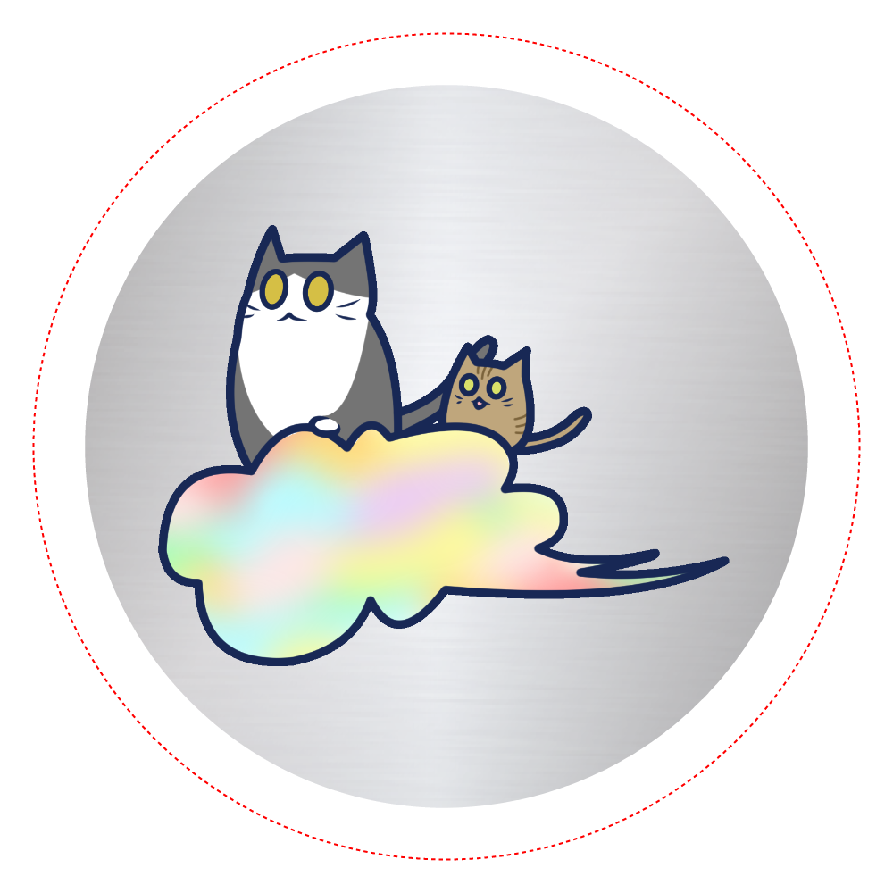 五色の雲と二匹の猫 オリジナル缶バッジ(56mm) オリジナル缶バッジ(56mm)