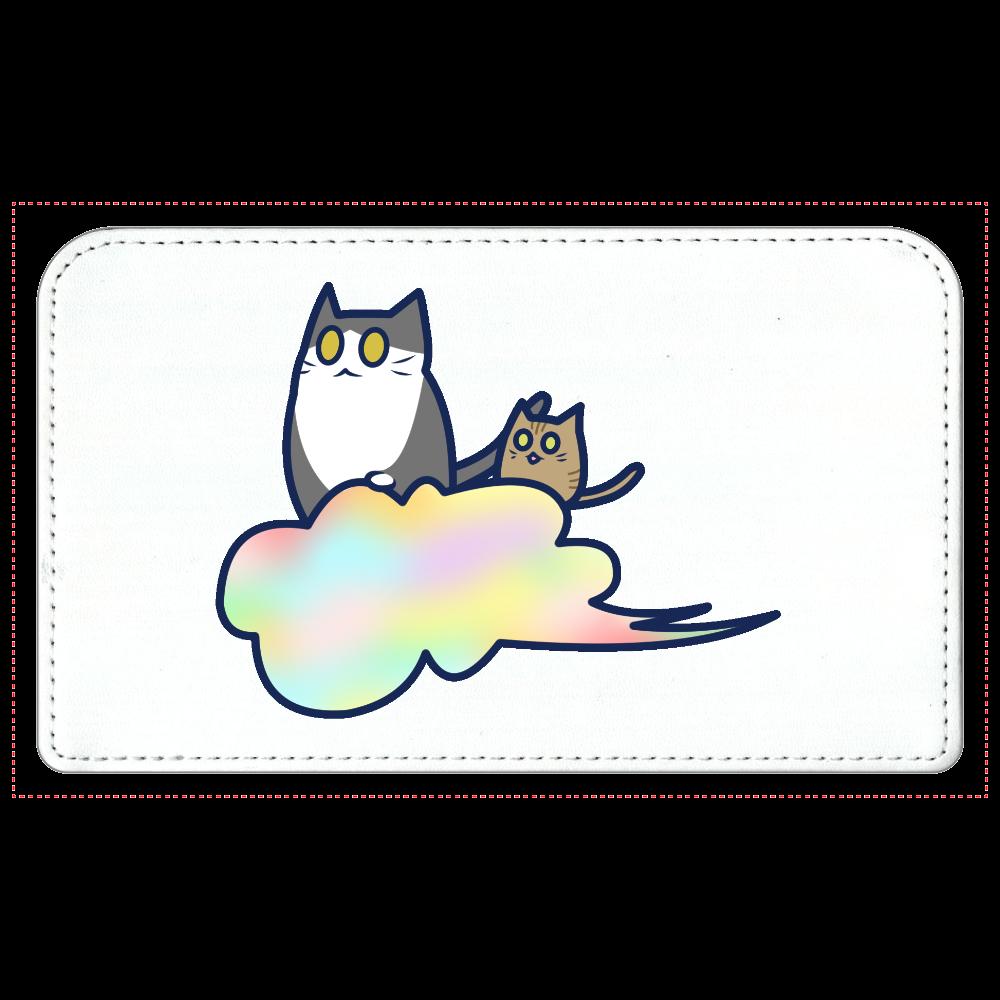 五色の雲と二匹の猫 化粧ポーチ 化粧ポーチ