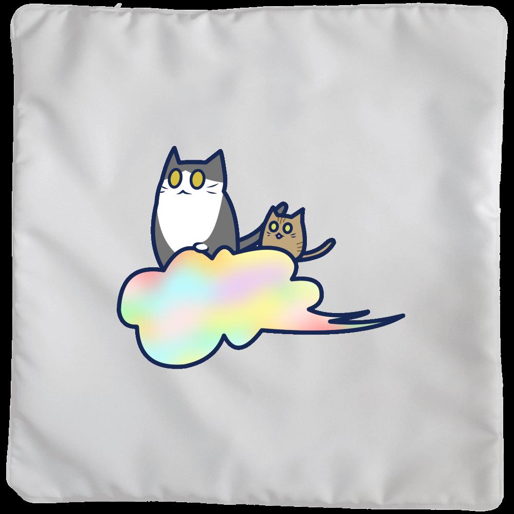 五色の雲と二匹の猫 クッションカバー(大)カバーのみ クッションカバー(大)カバーのみ