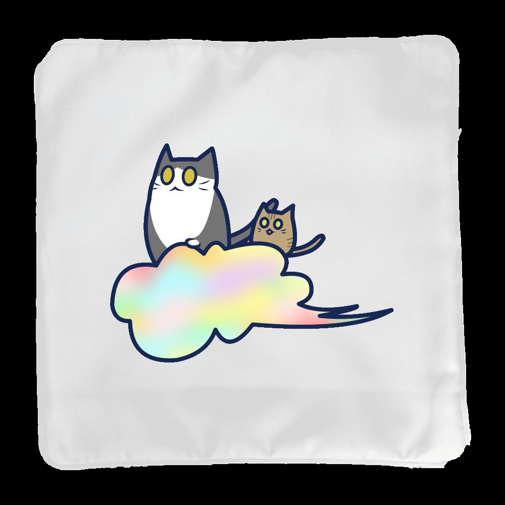 五色の雲と二匹の猫 クッション(小) クッション(小)