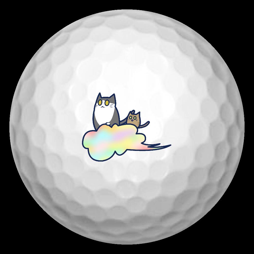 五色の雲と二匹の猫 ゴルフボール(3個セット) ゴルフボール(3個セット)