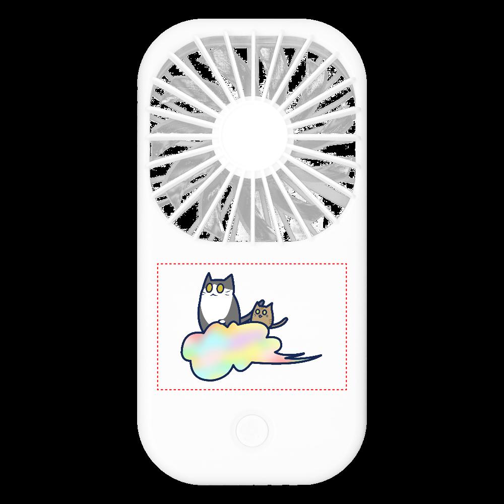 五色の雲と二匹の猫 ポータブルスタンドファン ポータブルスタンドファン