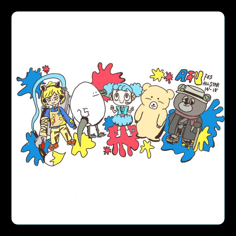 【AIUfes ALL STAR 14th-18th】コースター アクリルコースター(四角)
