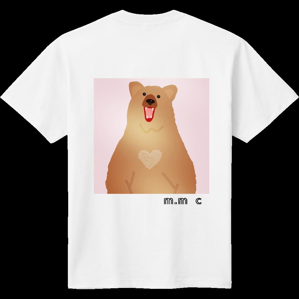 くま柄ピンクデザイン 定番Tシャツ