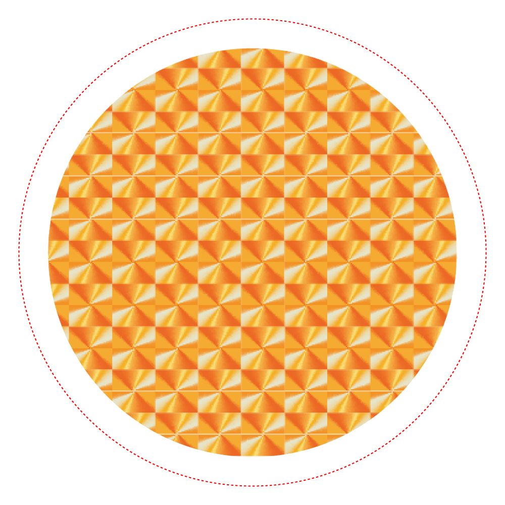 「竜巻」という名の気候変動 ORILAB MARKET.Version.8 ホログラムオリジナル缶バッジ(56mm)