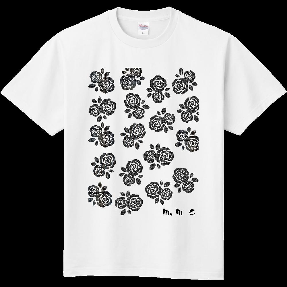 黒花デザイン 定番Tシャツ