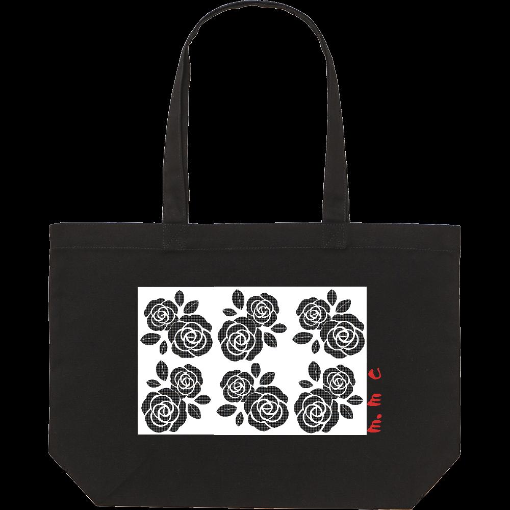 黒花デザイン スタンダードキャンバストートバッグ(W)