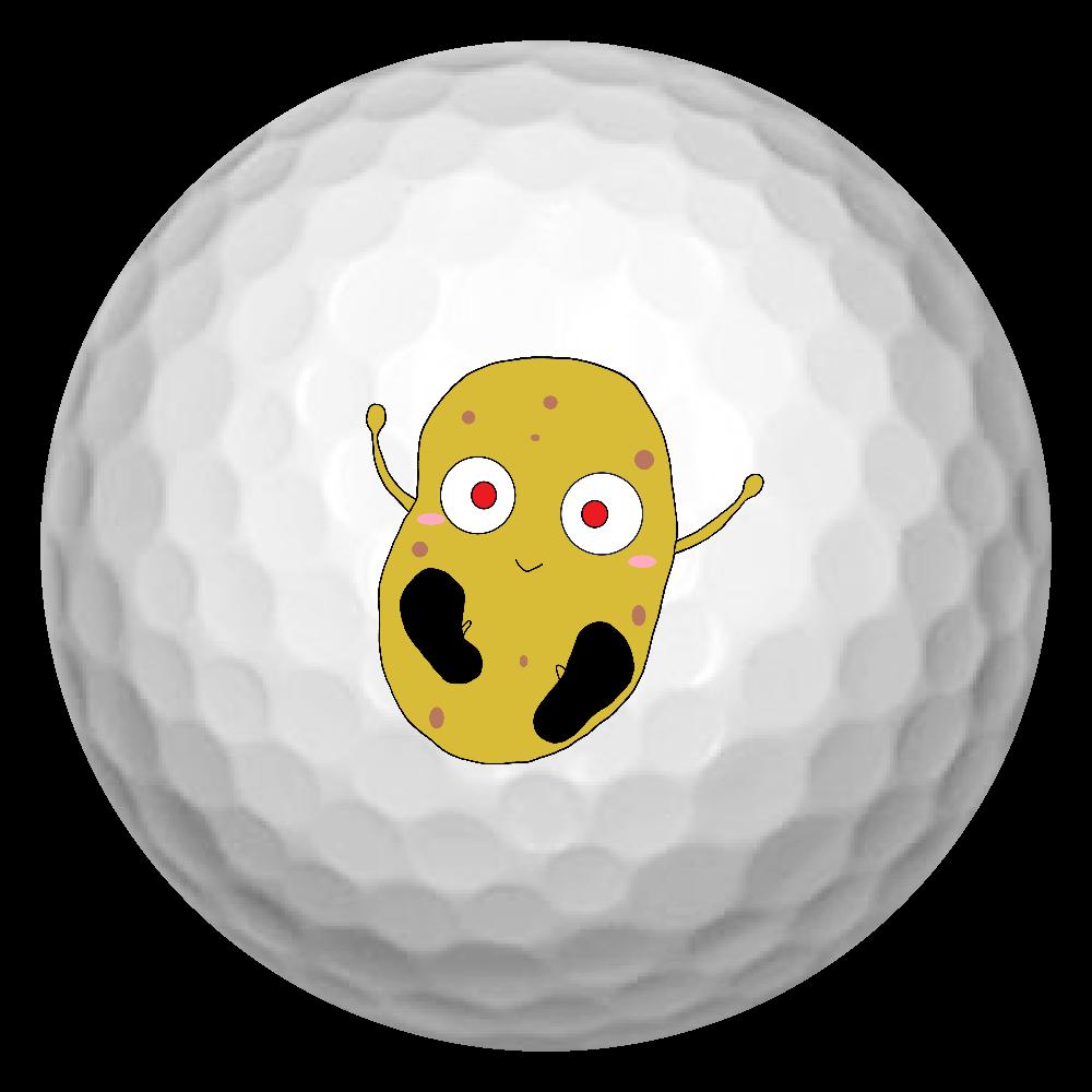 じゃがいもくんゴルフボール ゴルフボール(3個セット)