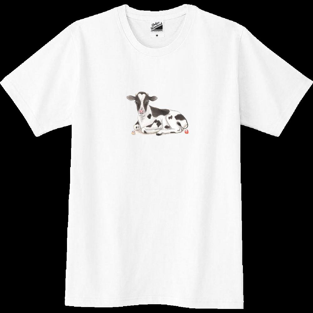 牛 さんと だるまさん のほのぼの時間 スリムTシャツ