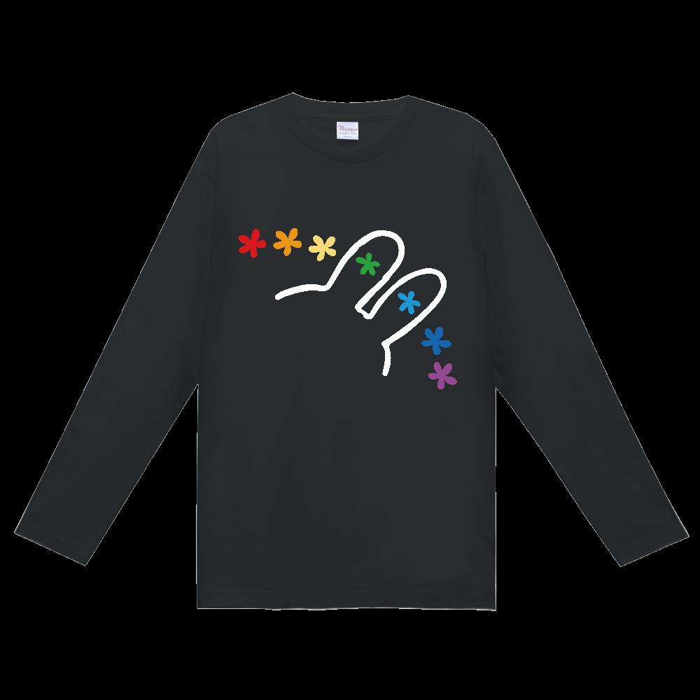 にじうさちゃんねる公式ロゴ ロングTシャツ 白ミミタイプ ヘビーウェイト長袖Tシャツ