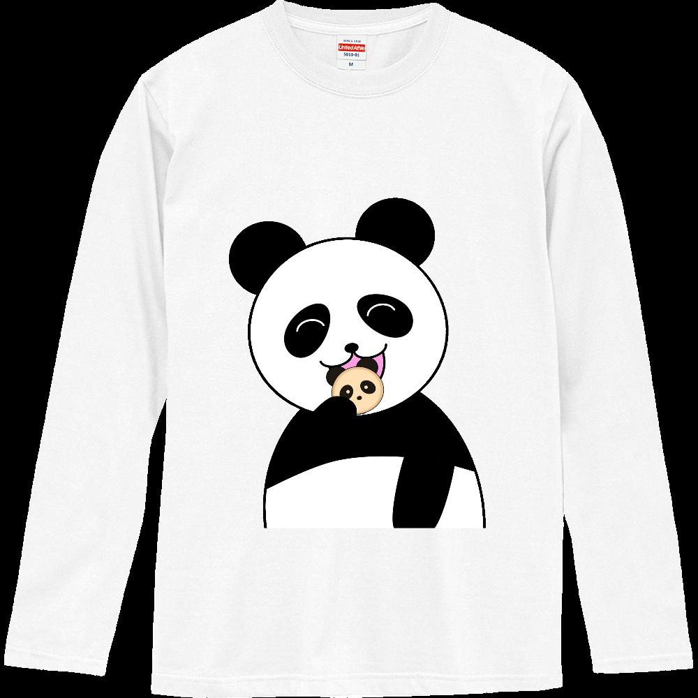 パンダパンを食べるパンダ ロングスリーブTシャツ