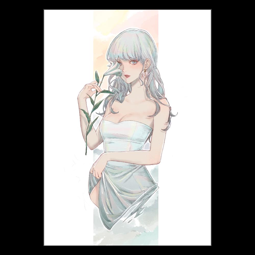 White lily A2ポスター ポスター A2サイズ