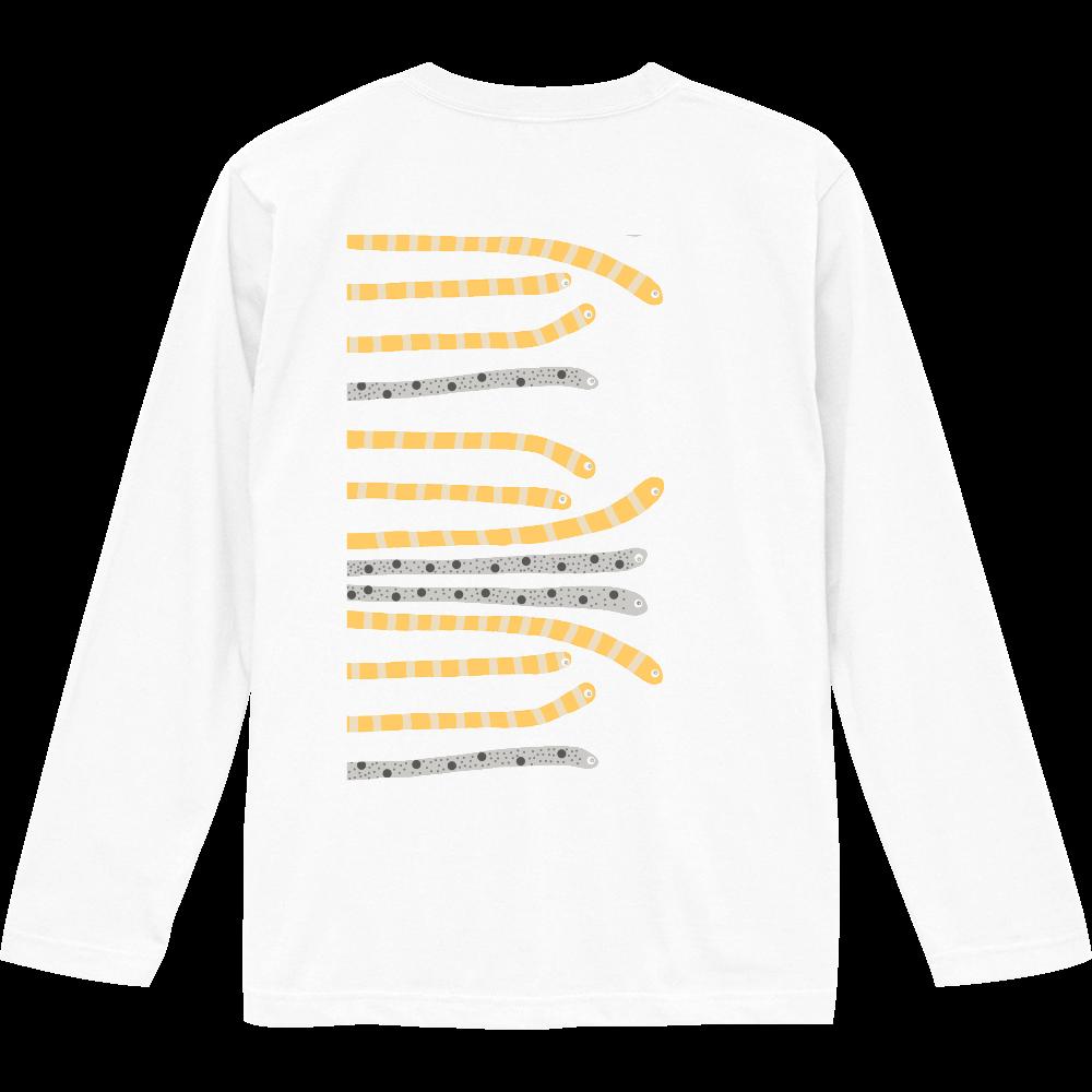 海の生き物チンアナゴデザイン ロングスリーブTシャツ