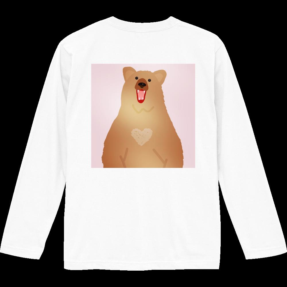 ピンクBearデザイン ロングスリーブTシャツ