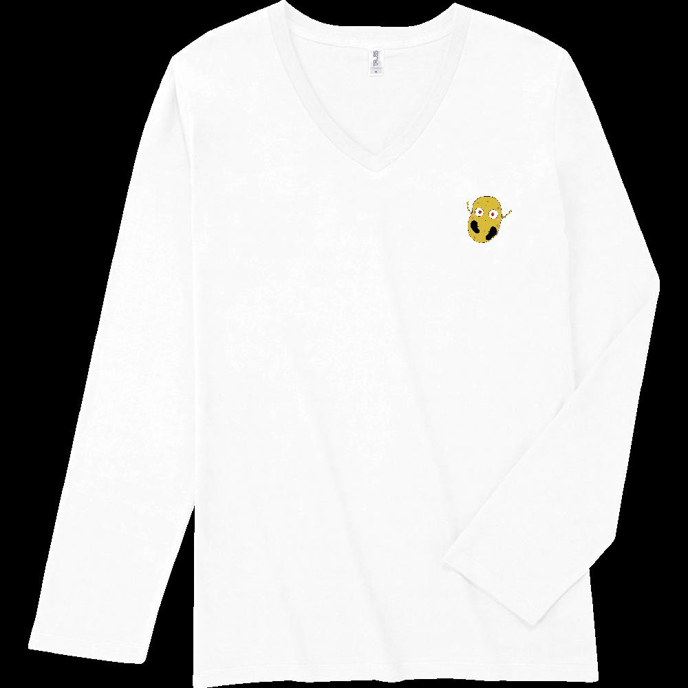 じゃがいもくんロングスリーブTシャツシリーズ スリムフィット VネックロングスリーブTシャツ