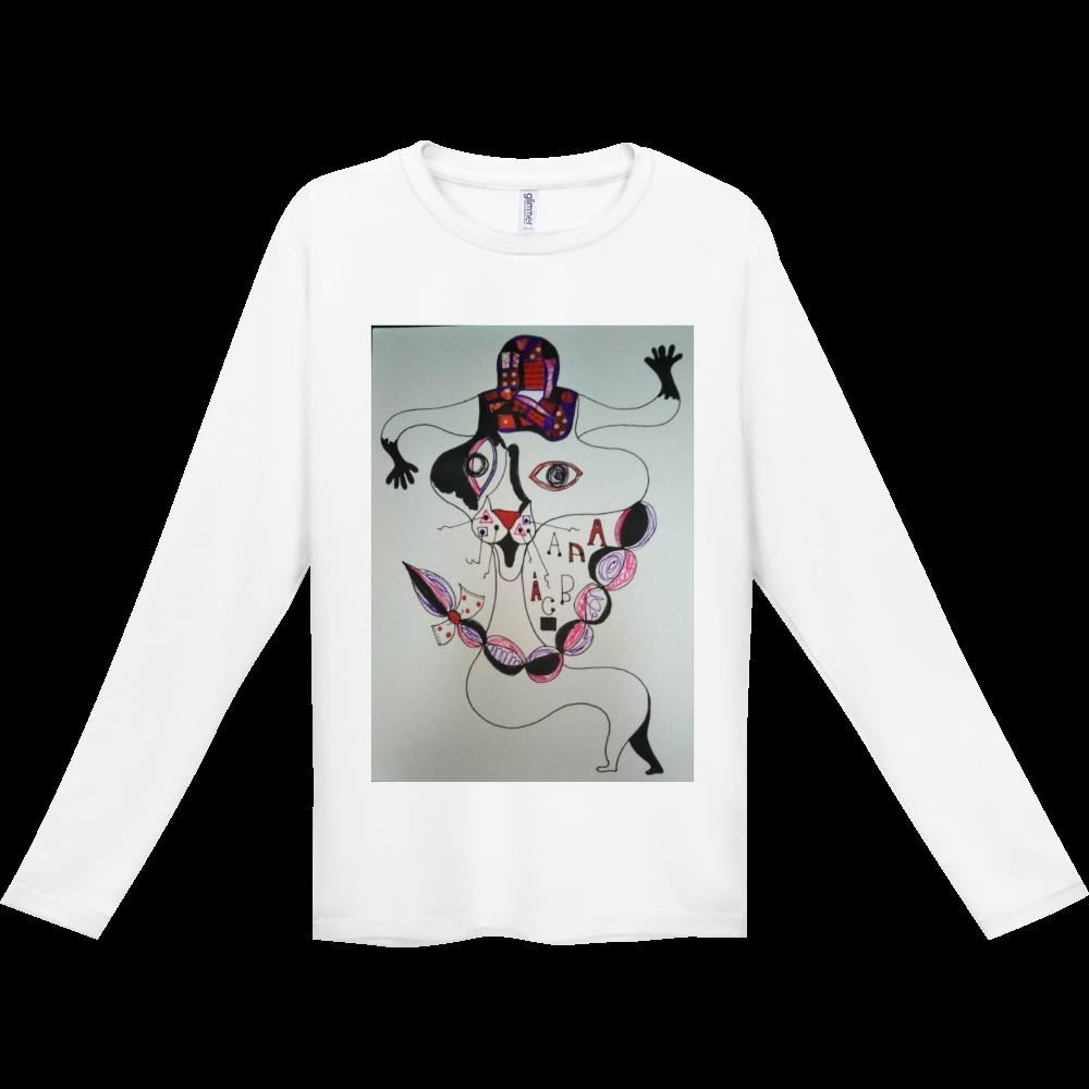 ●みつ編み猫● インターロック ドライ長袖Tシャツ