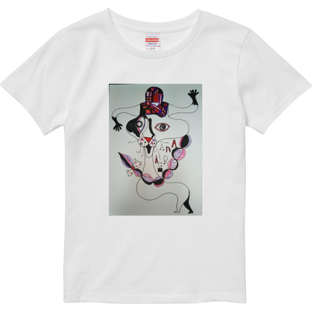 ●みつ編み猫● ハイクオリティーTシャツ(ガールズ)