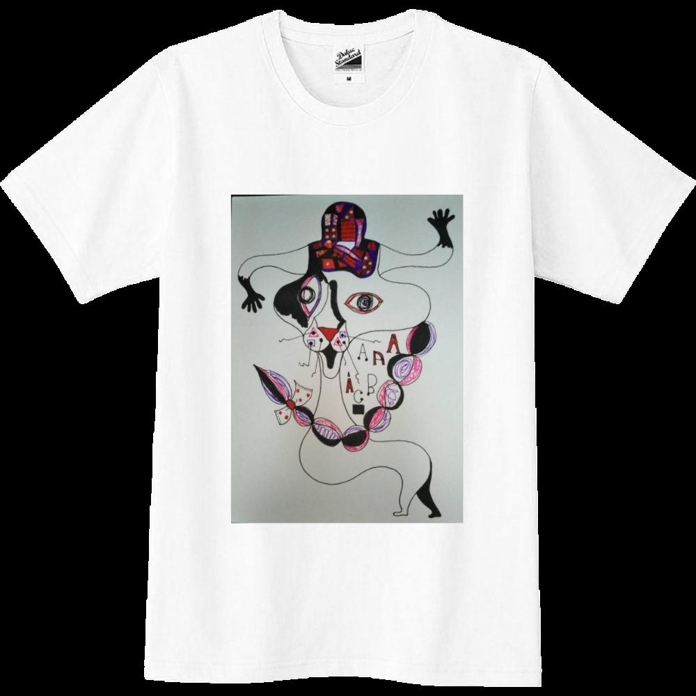 ●みつ編み猫● スリムTシャツ