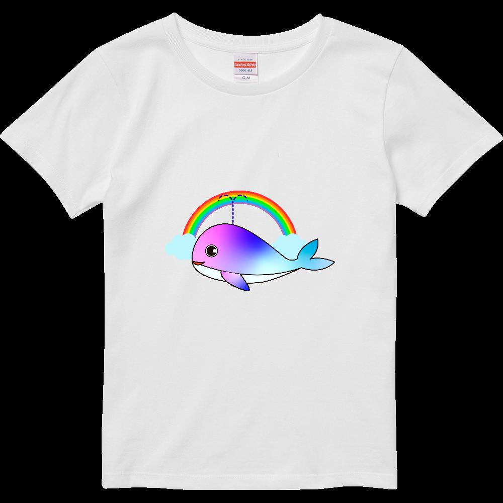 レインボーなクジラちゃん ハイクオリティーTシャツ(ガールズ)