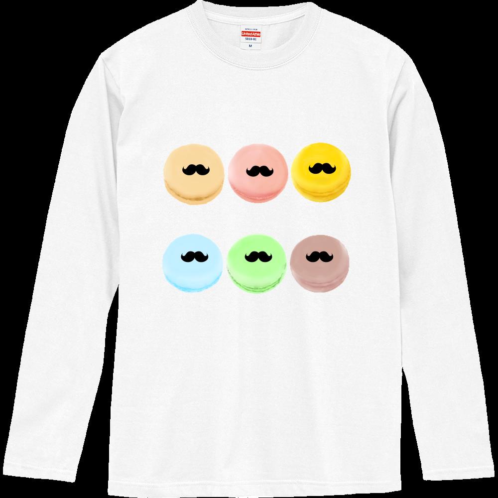 ヒゲマカロンデザイン ロングスリーブTシャツ