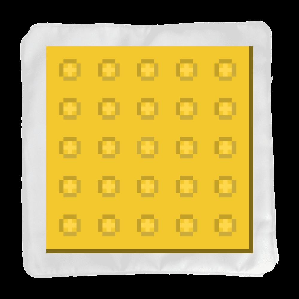 ドット絵「点字ブロック(警告)」 クッションカバー(小)カバーのみ