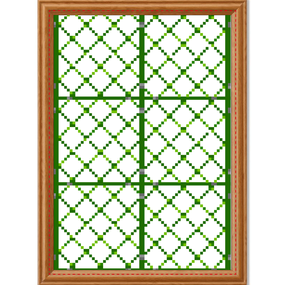 ドット絵「フェンス」アートデザインパネル アートデザインパネル (A4 光沢紙)
