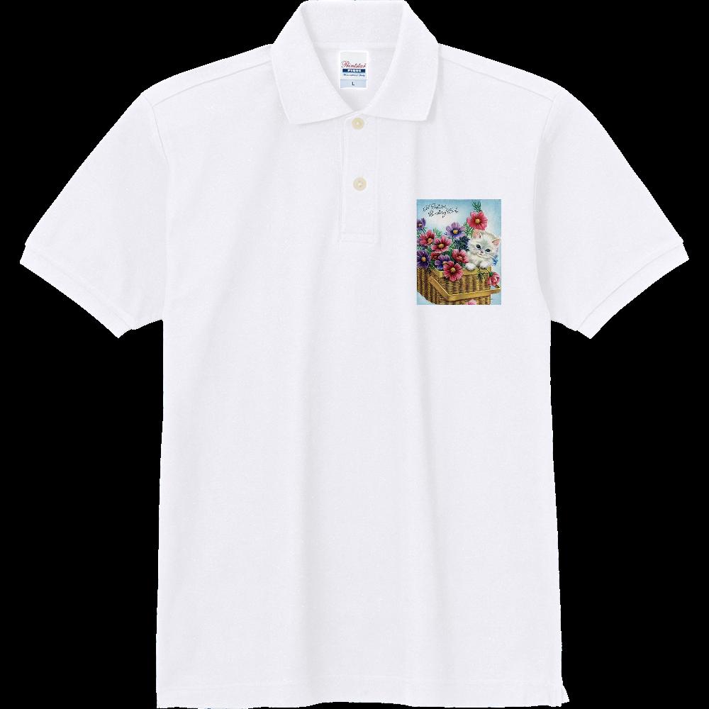 ネコ 定番ポロシャツ