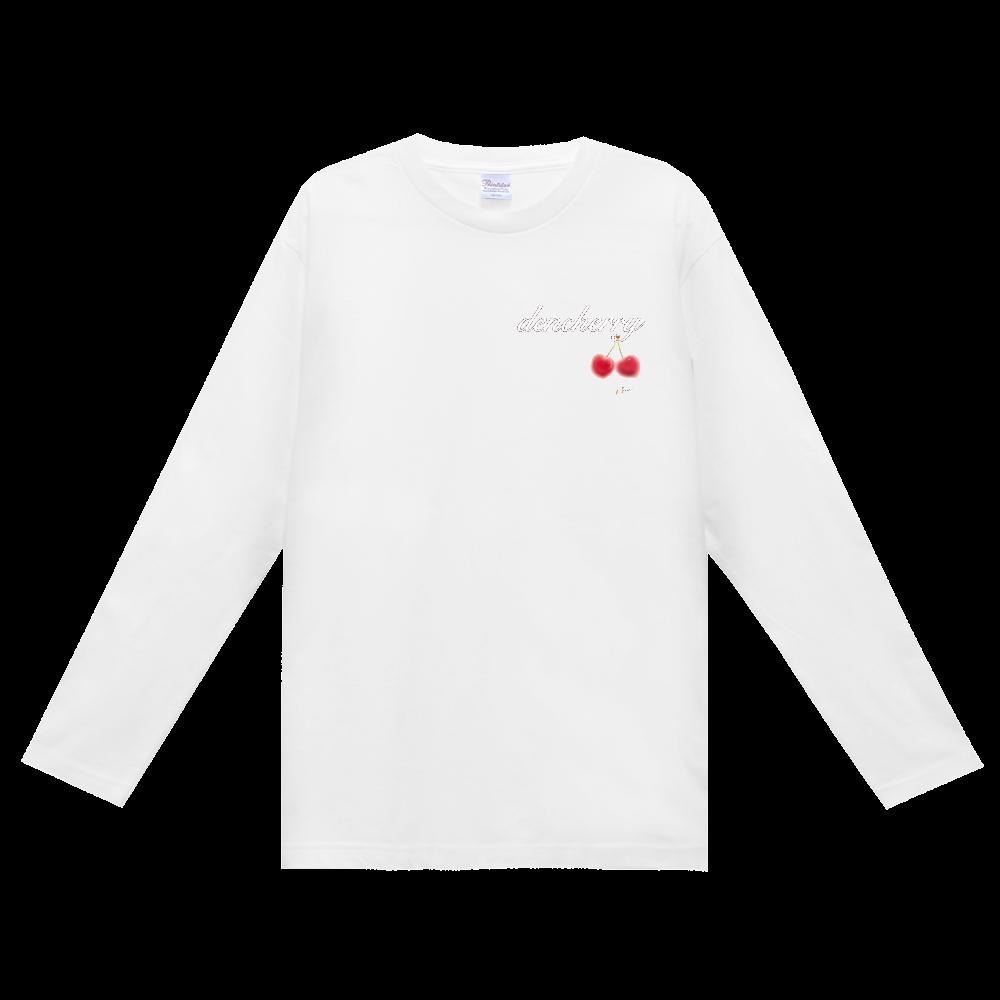 でんちぇりーロンT(黒デザイン) ヘビーウェイト長袖Tシャツ