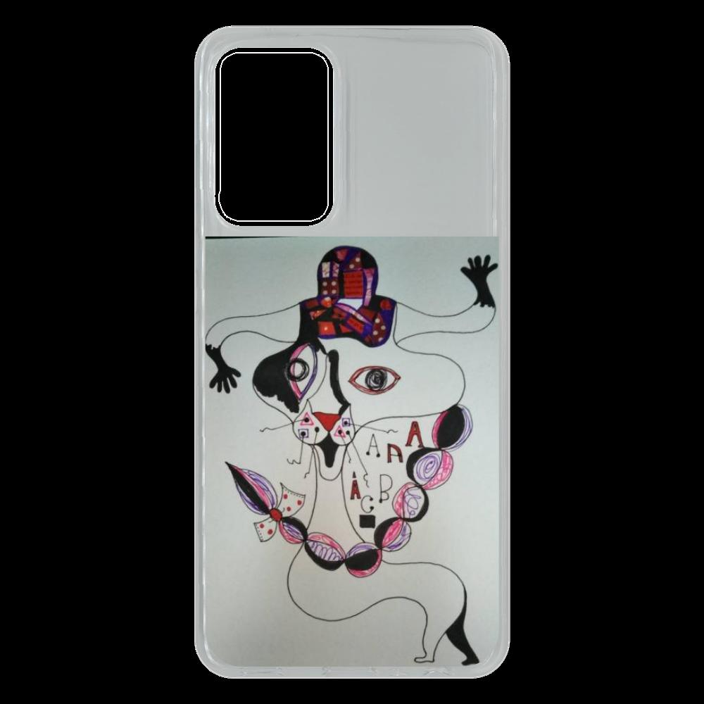 ●みつ編み猫● Galaxy A52 5G (SC-53B) TPUケース