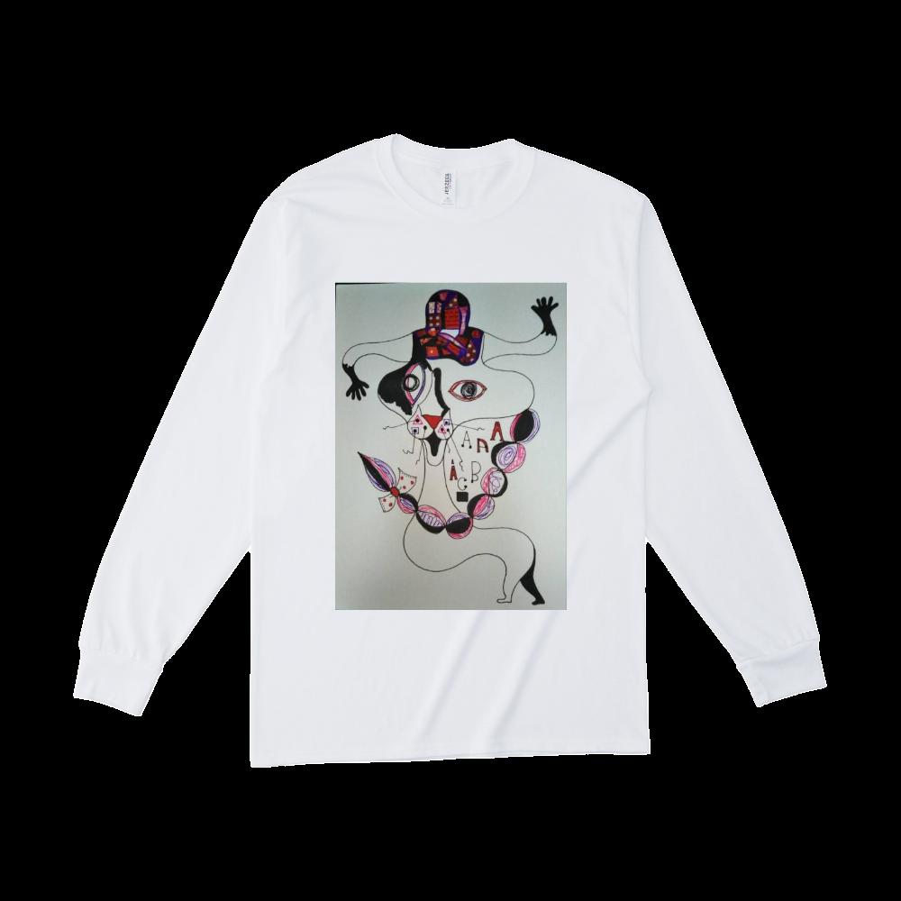 ●みつ編み猫● ジャージーズDRI-POWERロングスリーブシャツ