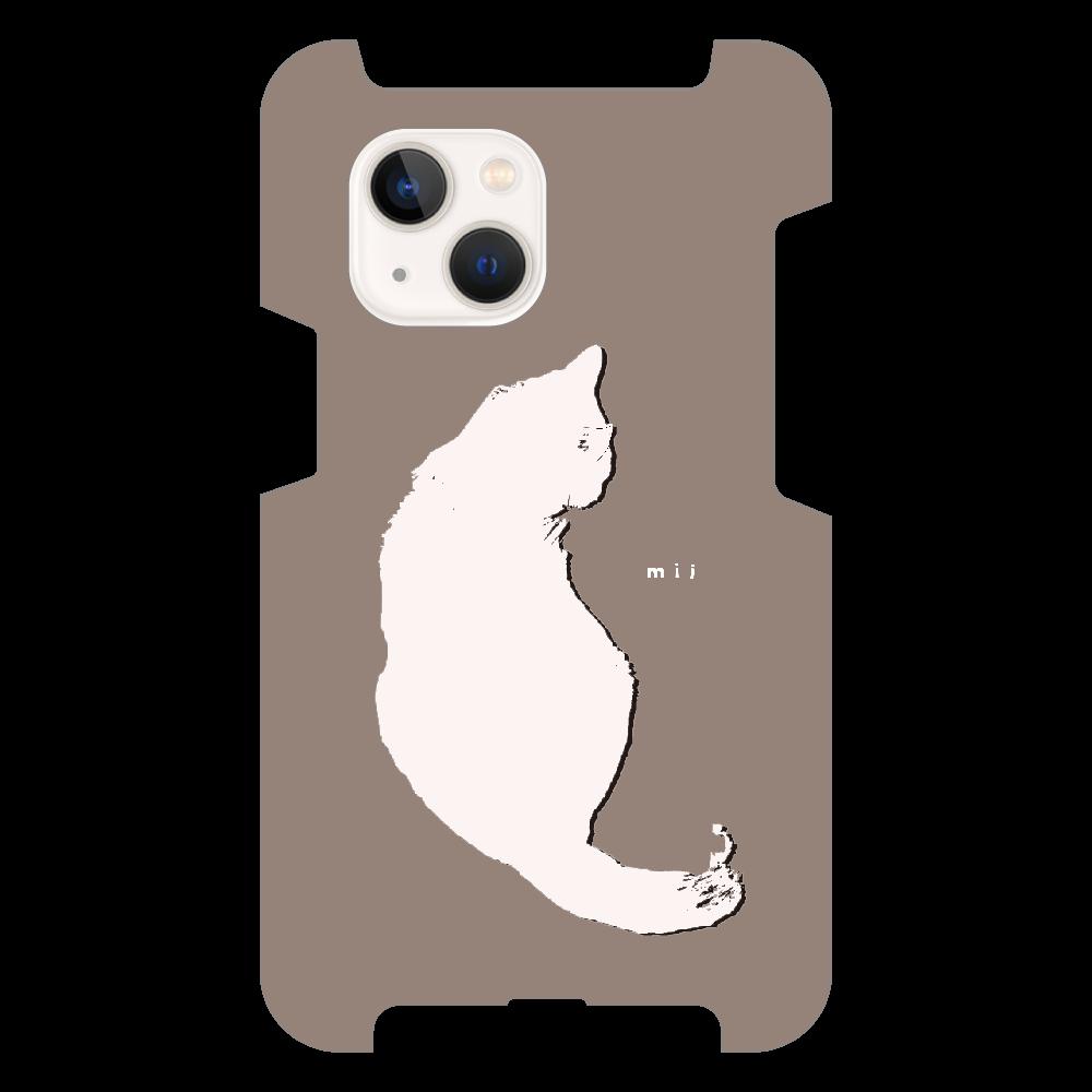 猫 シンプル モバイルカバー iPhone13 mini