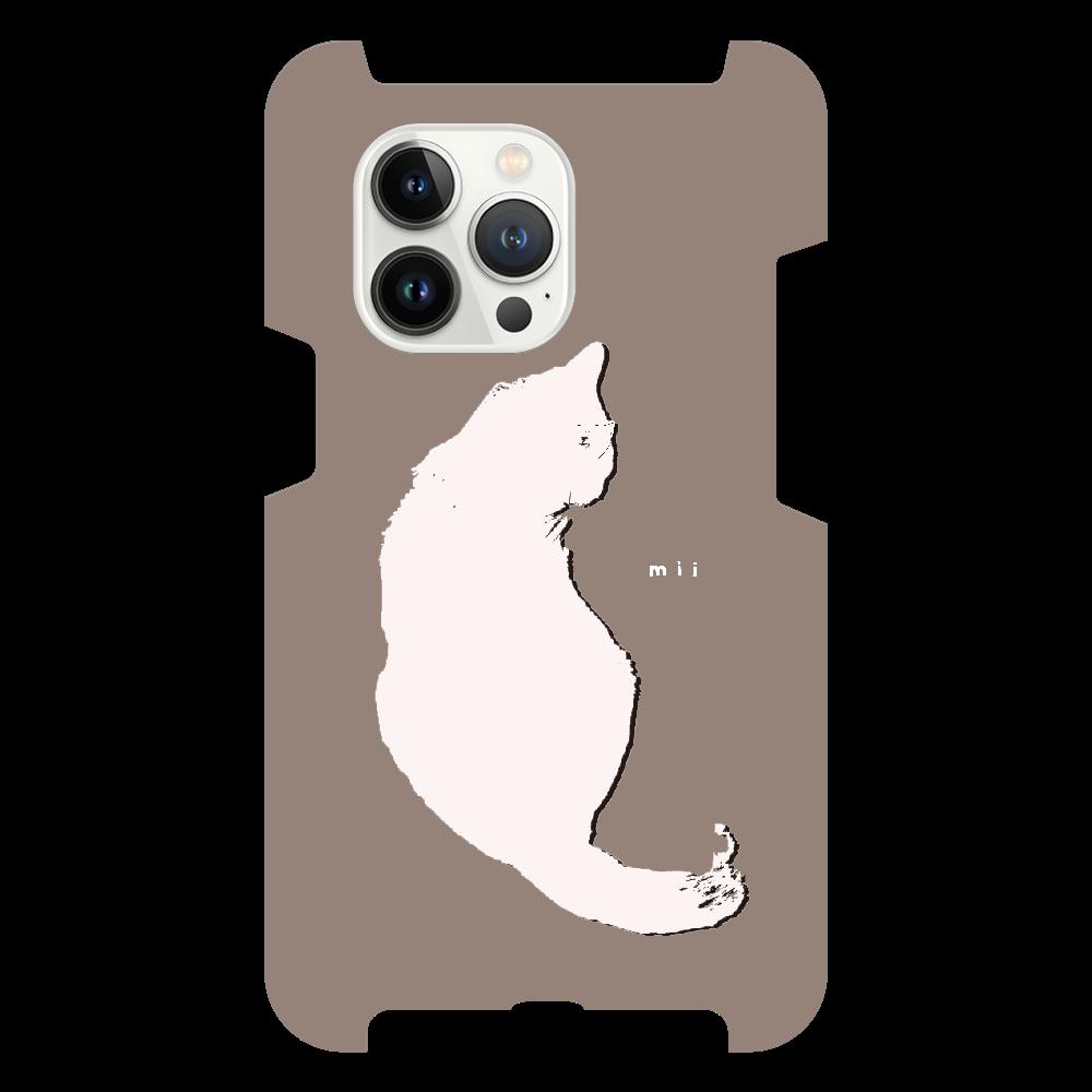 猫 シンプル モバイルカバー iPhone13 Pro
