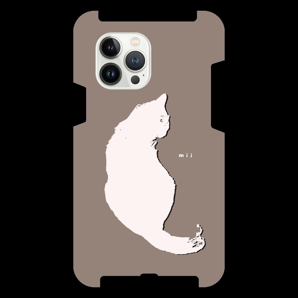 猫 シンプル モバイルカバー iPhone13 Pro Max