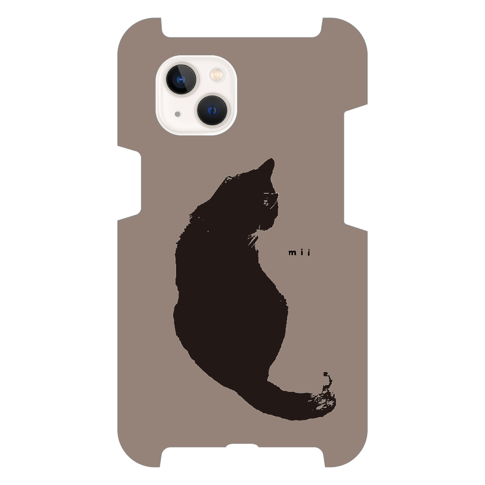 猫 シンプル モバイルカバー iPhone13