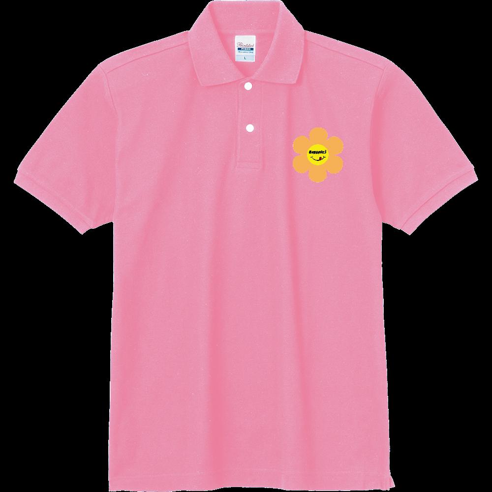 レトロフラワー☆オレンジ 定番ポロシャツ