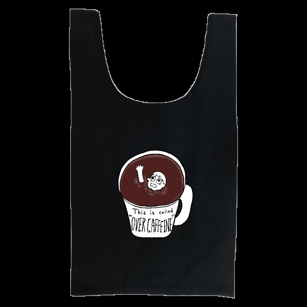 コーヒーに溺れオーバーカフェイン 厚手コットンマルシェバッグ(M)