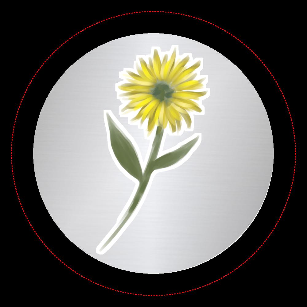 黄色い一輪の花 オリジナル缶バッジ(44mm)