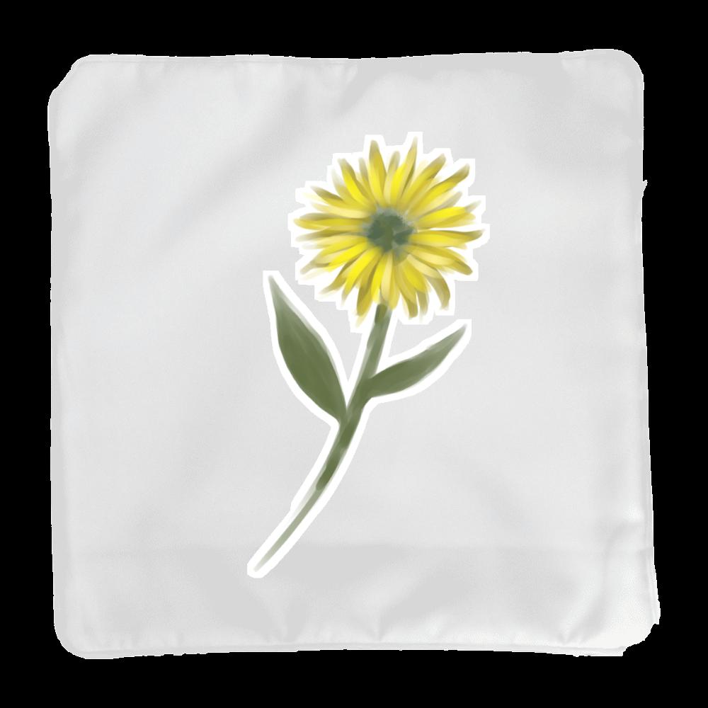 黄色い一輪の花 クッションカバー(小)カバーのみ