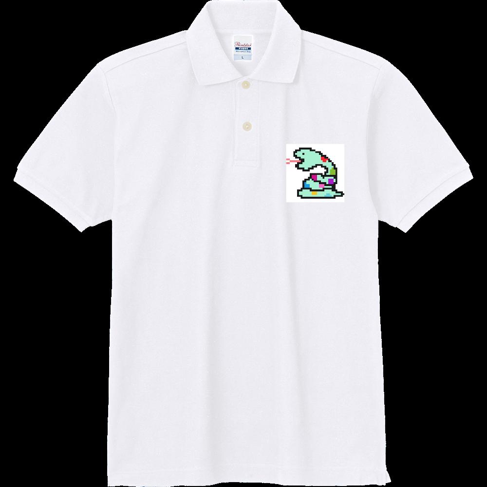 ミドリヘビ【ドット絵】 定番ポロシャツ