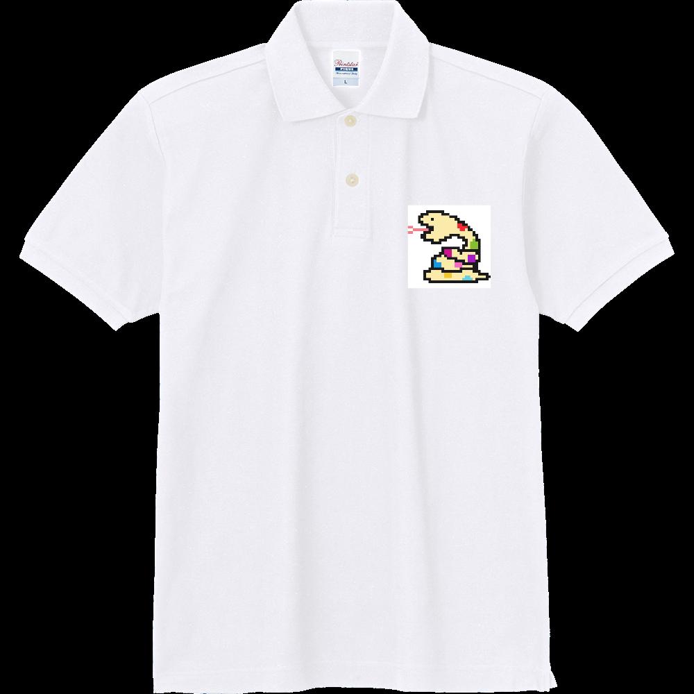 イエローヘビ【ドット絵】 定番ポロシャツ