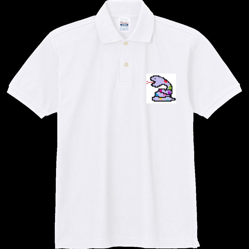 パープルヘビ【ドット絵】 定番ポロシャツ