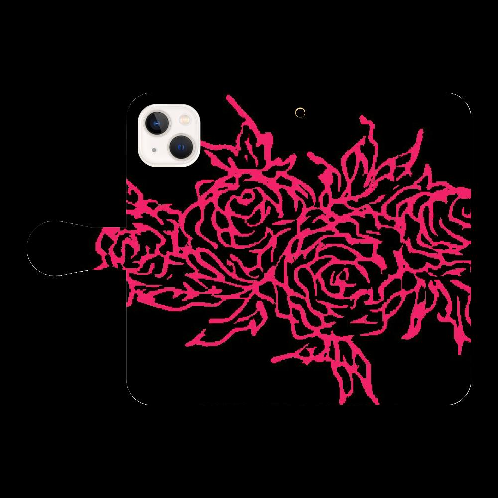 追憶の中で咲く iPhone13 手帳型スマホケース