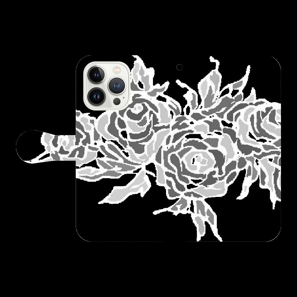 追憶の中で咲く iPhone13 Pro 手帳型スマホケース