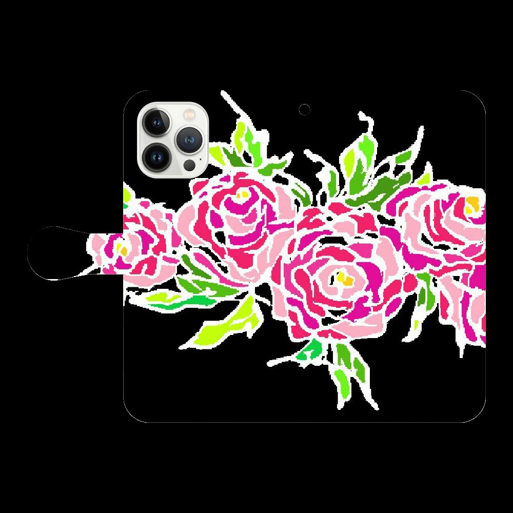 追憶の中で咲く iPhone13 ProMax 手帳型スマホケース