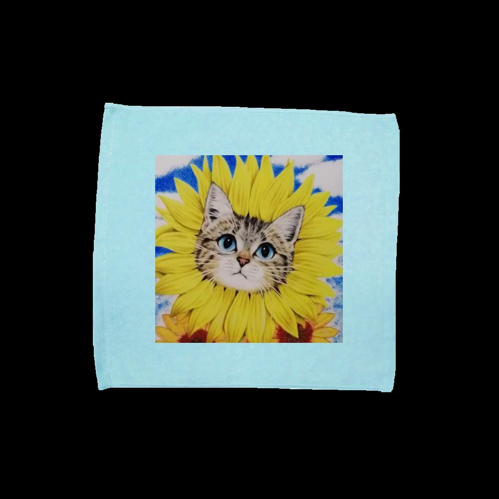 ハンドタオル ひまわり猫 ハンドタオル