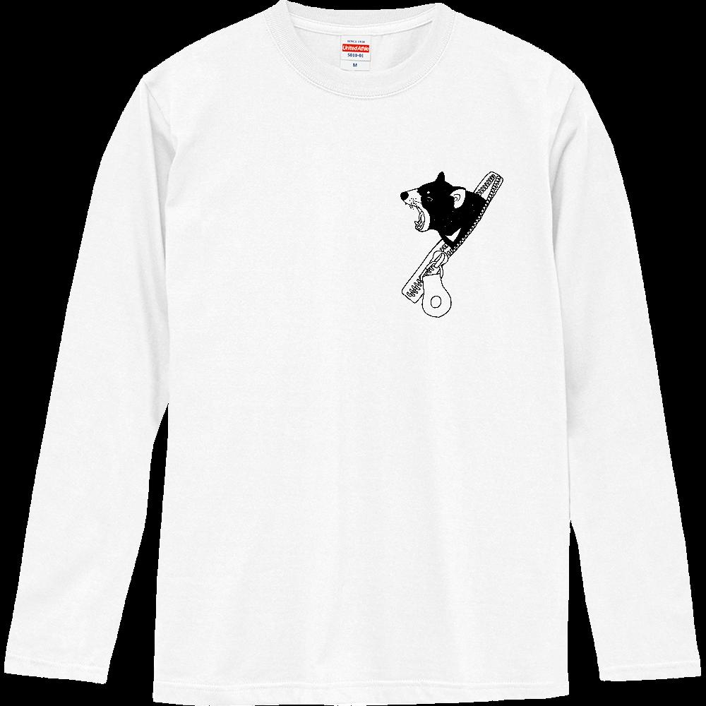ファスナーからタスマニアデビル ロングスリーブTシャツ