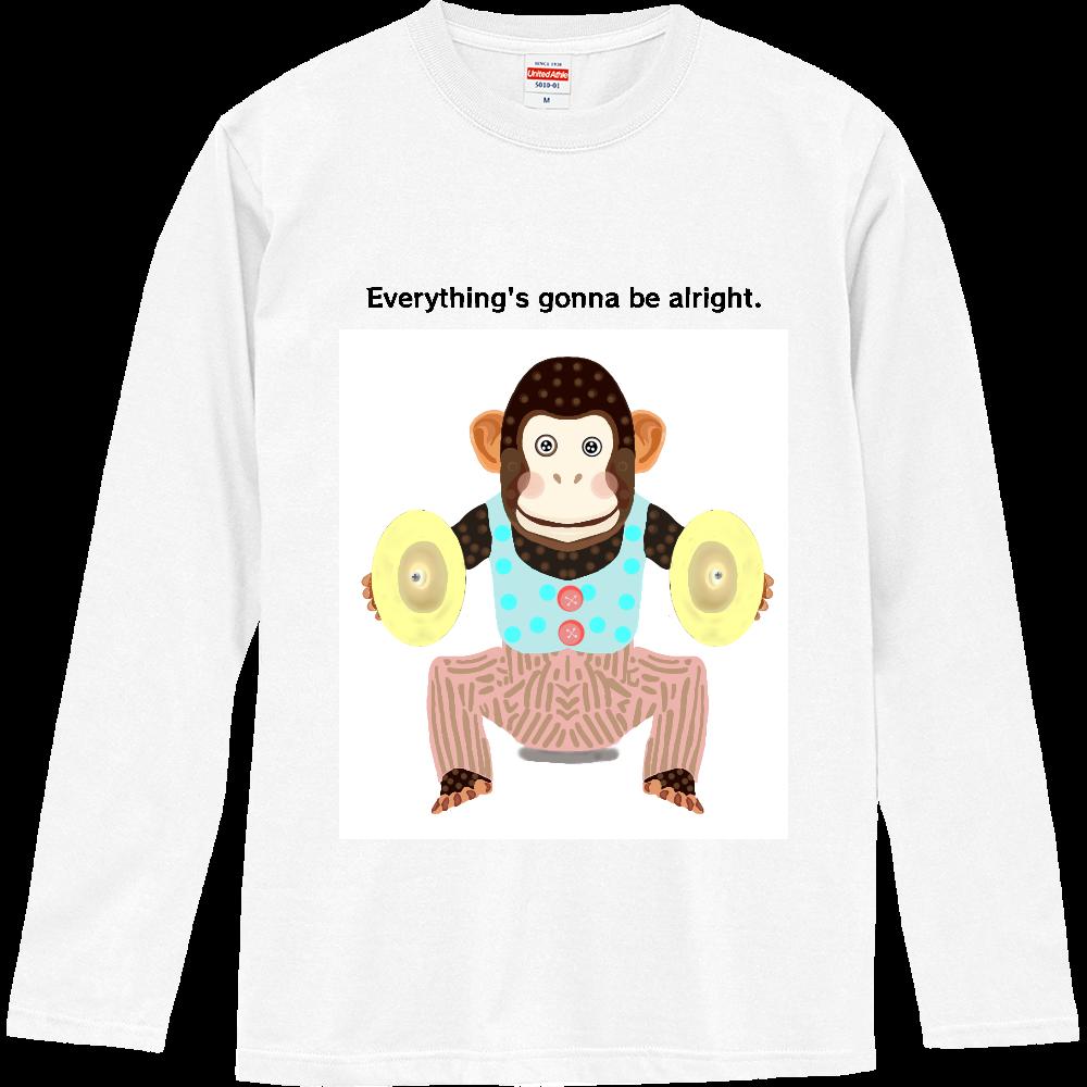 おさるのオモチャデザイン ロングスリーブTシャツ