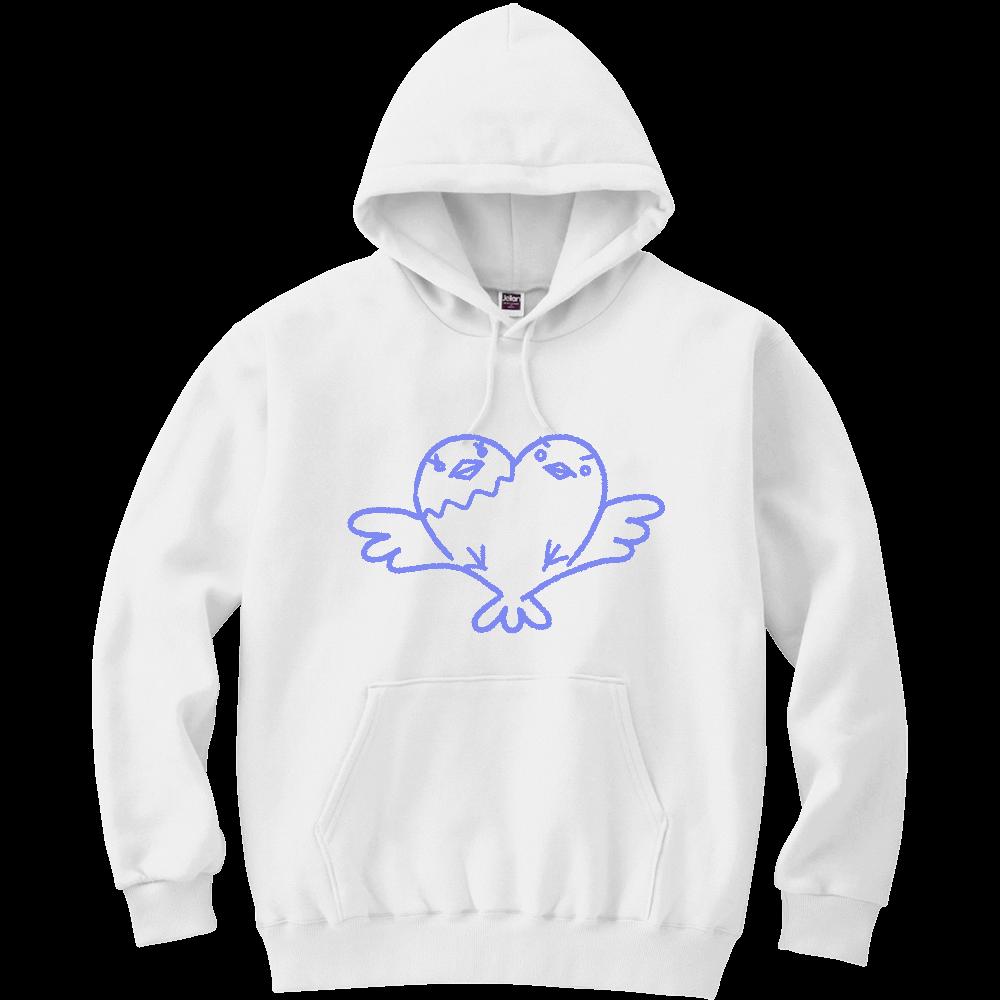 ムゲンノ青い鳥 軽量プルパーカー (長袖プリント)